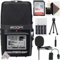 Zoom H2n Ext 2-input 4 Track Handy Digital Audio Recorder + Lavalier Mic Kit
