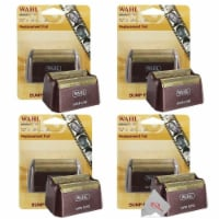Four Pieces Wahl 5 Star Series Red Replacement Foil #7031-200