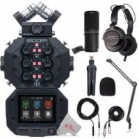 Zoom H8 8-input 12-track Digital Recorder + Mic Accessory Bundle + Bracket - 1