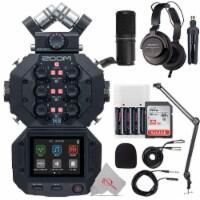 Zoom H8 8-input 12-track Digital Recorder + Podcast Accessory Bundle - 1