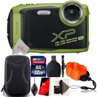 Fujifilm Finepix Xp140 16.4mp Waterproof Shockproof Digital Camera Lime + 32gb Accessory Kit - 1
