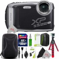 Fujifilm Finepix Xp140 16.4mp Waterproof Shockproof Digital Camera Silver + Top Accessory Kit - 1