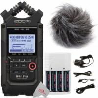 Zoom H4n Pro 4-input / 4-track Digital Recorder + Accessory Bundle - 1