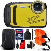 Fujifilm Finepix Xp140 Waterproof Digital Camera Yellow + 32gb Accessory Kit - 1