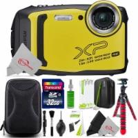 Fujifilm Finepix Xp140 16.4mp Waterproof Shockproof Digital Camera Yellow + Top Accessory Kit - 1