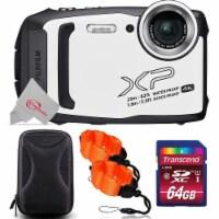 Fujifilm Finepix Xp140 16.4mp Waterproof Shockproof Digital Camera White + 64gb Accessory Kit - 1