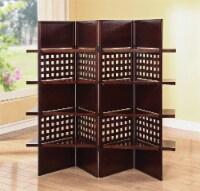 HomeRoots Decor 72  X 1  X 59  Dark Brown 4 Panel Wooden Screen - 1 unit