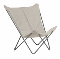 Modern Indoor Outdoor Taupe Folding Lounge Chair