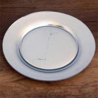 Red Pomegranate 0981-2 Gilt Premiere Gilded Dinner Plate, Silver