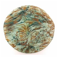 Red Pomegranate 1081-6 Ballad Platter, Turquoise & Brown