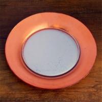 Red Pomegranate 4982-3 Gilt Eclipse Salad Plates, Silver & Rose - Set of 4 - 1