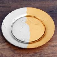 Red Pomegranate 4984-4 Gilt Edge Salad Plates, Silver & Gold - Set of 4