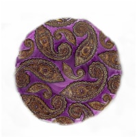 Red Pomegranate 6488-9 Paisley 13 in. Purple Gold Platter
