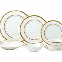 Lorenzo Import Sonia-28 28 Piece Dinnerware Set & New Bone China Service - for 4 People Sonia