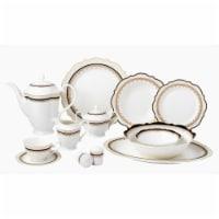 Lorren Home Trends Dalilah 57 Piece Bone China Dalilah Dinnerware Set, Service for 8
