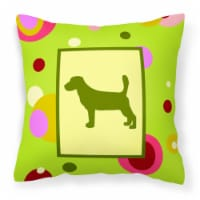 Carolines Treasures  CK1012PW1414 Basset Hound Decorative   Canvas Fabric Pillow