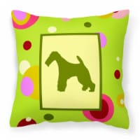 Carolines Treasures  CK1067PW1414 Fox Terrier Decorative   Canvas Fabric Pillow