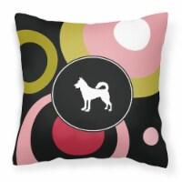 Carolines Treasures  KJ1123PW1414 Canaan Dog  Decorative   Canvas Fabric Pillow - 14Hx14W
