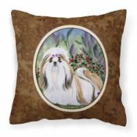 Carolines Treasures  SS8034PW1414 Shih Tzu Decorative   Canvas Fabric Pillow
