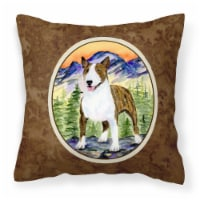 Carolines Treasures  SS8167PW1414 Bull Terrier Decorative   Canvas Fabric Pillow