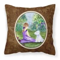 Carolines Treasures  SS8246PW1414 Westie Decorative   Canvas Fabric Pillow - 14Hx14W