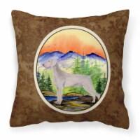 Carolines Treasures  SS8267PW1414 Weimaraner Decorative   Canvas Fabric Pillow