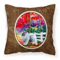 Carolines Treasures  SS8432PW1414 Keeshond Decorative   Canvas Fabric Pillow
