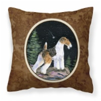 Carolines Treasures  SS8500PW1414 Starry Night Fox Terrier Decorative   Canvas F