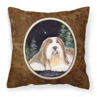 Starry Night Bearded Collie Decorative   Canvas Fabric Pillow