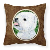 Carolines Treasures  SS8802PW1414 Westie Decorative   Canvas Fabric Pillow