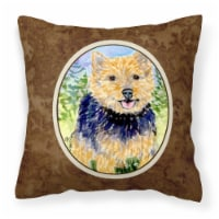 Carolines Treasures  SS8894PW1414 Norwich Terrier Decorative   Canvas Fabric Pil