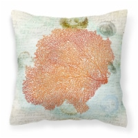 Carolines Treasures  SB3023PW1414 Coral Pink   Canvas Fabric Decorative Pillow