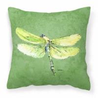 Carolines Treasures  8864PW1414 Dragonfly on Avacado   Canvas Fabric Decorative