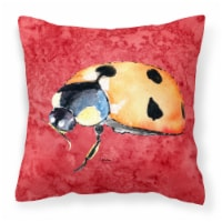 Carolines Treasures  8869PW1414 Lady Bug on Red   Canvas Fabric Decorative Pillo