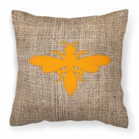 Wasp Burlap and Orange   Canvas Fabric Decorative Pillow BB1054