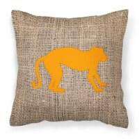 Monkey Burlap and Orange   Canvas Fabric Decorative Pillow BB1128