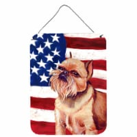 USA American Flag with Brussels Griffon Wall or Door Hanging Prints