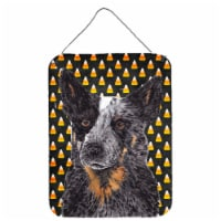 Australian Cattle Dog Candy Corn Halloween Portrait Wall or Door Hanging Prints - 16HX12W
