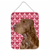 Field Spaniel Hearts Love and Valentine's Day Wall or Door Hanging Prints