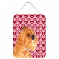 Brussels Griffon Hearts Love and Valentine's Day Wall or Door Hanging Prints