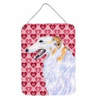Borzoi Hearts Love and Valentine's Day Portrait Wall or Door Hanging Prints