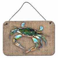 Carolines Treasures  8731DS812 Crab  Indoor Aluminium Metal Wall or Door Hanging - 8HX12W