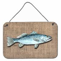 Fish Speckled Trout Indoor Aluminium Metal Wall or Door Hanging Prints - 8HX12W