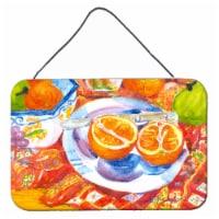 Florida Oranges Sliced for breakfast  Indoor Wall or Door Hanging Prints - 8HX12W