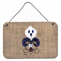 Halloween Ghost Spider Bat Fleur de lis Indoor Wall or Door Hanging Prints - 8HX12W