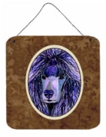 Carolines Treasures  SS8800DS66 Poodle Aluminium Metal Wall or Door Hanging Prin
