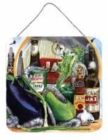 Eggplant and New Orleans Beers Aluminium Metal Wall or Door Hanging Prints