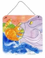 Cat and the Big Fish Aluminium Metal Wall or Door Hanging Prints - 6HX6W