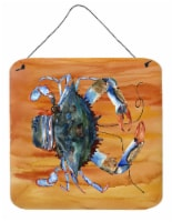 Carolines Treasures  8144DS66 Crab Aluminium Metal Wall or Door Hanging Prints