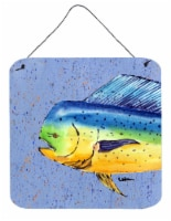 Dolphin Mahi Mahi Aluminium Metal Wall or Door Hanging Prints - 6HX6W
